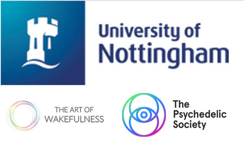 University of Nottingham, the Psychedelic Society of Nottingham, Centre for Research in Human Flourishing, The Art of Wakefulness